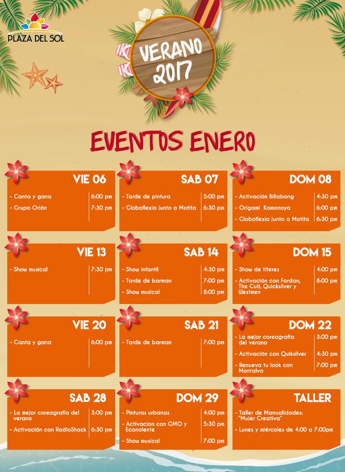 Plaza del sol Huacho - Eventos enero