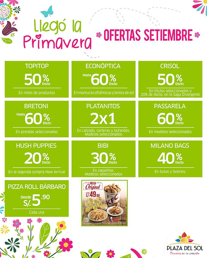 Plaza del Sol Ica - Ofertas Setiembre