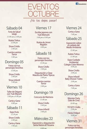 Eventos ica plaza del sol ica for Eventos plaza del sol