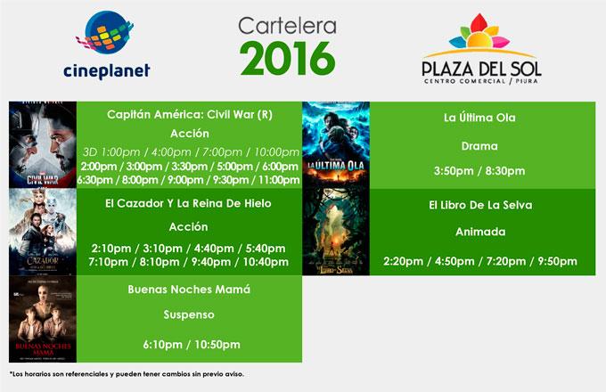 Plaza del sol Piura - Cartelera del 28 al 04 de mayo